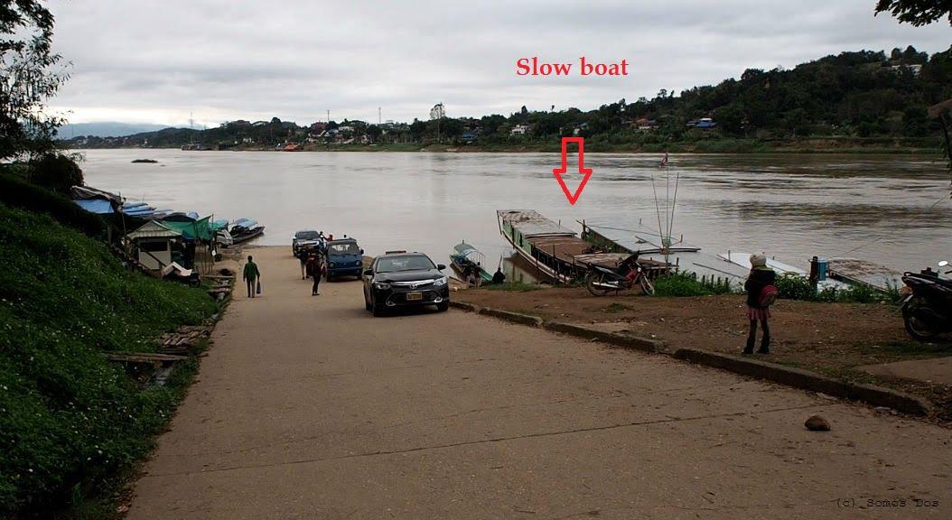 Przystań Slow Boat, kierunek Luang Prabang - Laos