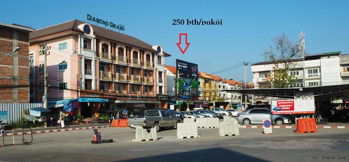 Nocleg w okolicy dworca autobusowego, Chiang Mai, Thailand /Jak przekroczyć granicę Tajlandii z Laosem/