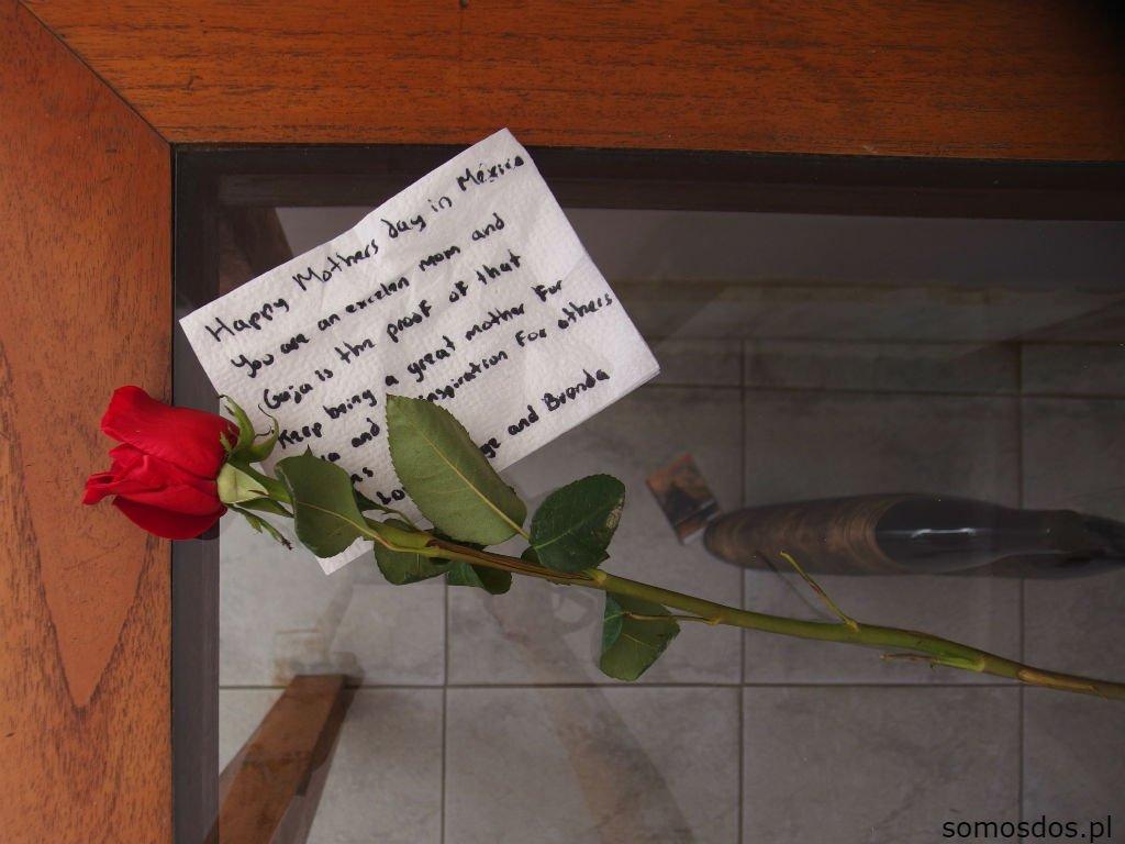 Róża i serwetka. Dzień Matki, którego nigdy nie zapomnę.