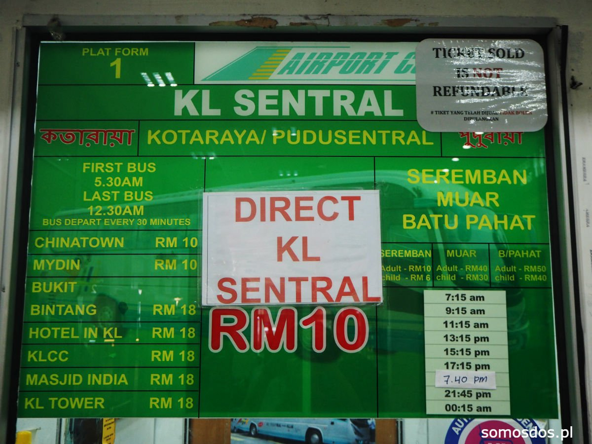 bus airport KL timetable malaysia