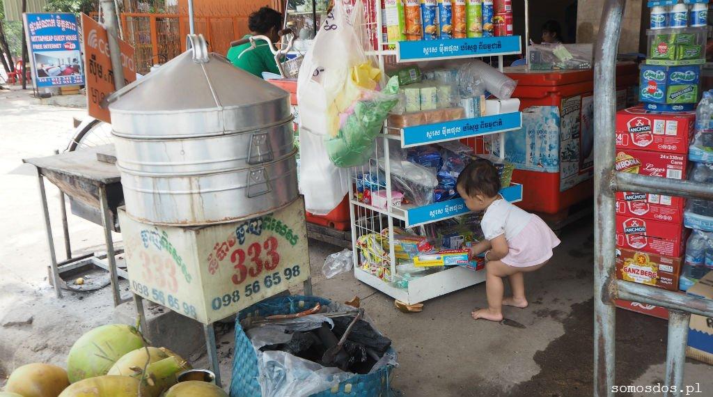 takeo, kambodża, cambodia, everyday life dziewczynka