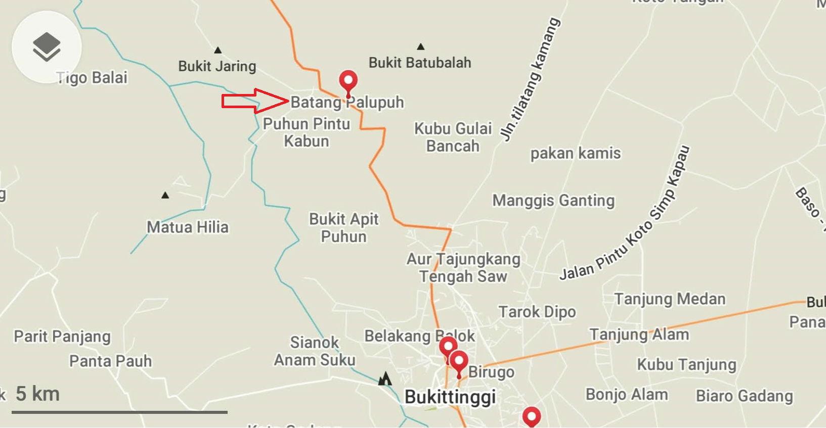 mapa raflesia and luwak center