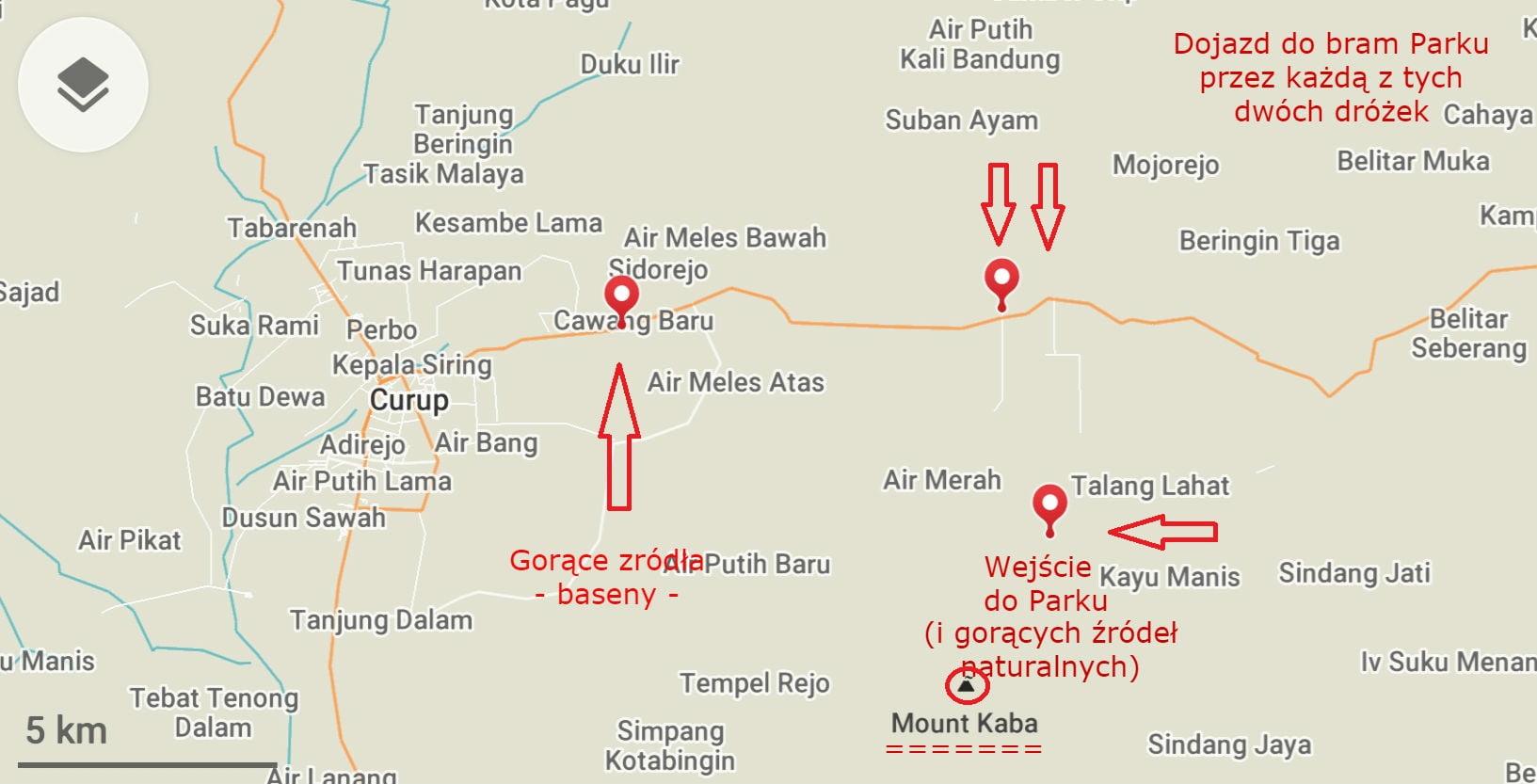 mapa wulkan Kaba