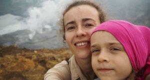 wulkan Kaba szczyt zdobyty