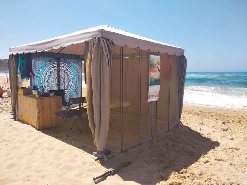 masaż nad morzem