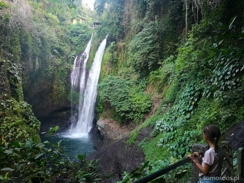 Wodospad Aling Aling w całej swojej mrocznej krasie. Bali, Indonezja.