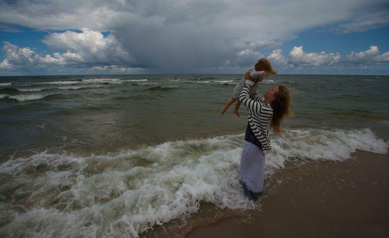 Kaja, Malina i spokój oceanu. fot. arch. autorki