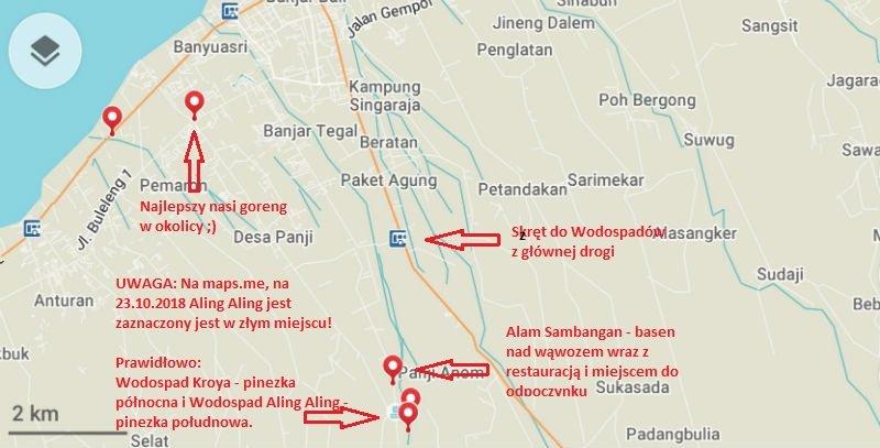 mapa wodospad Align Aling