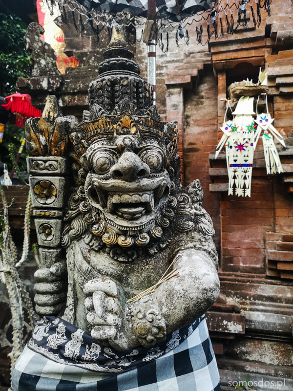 demon, a guard of the hindu temple, Bali, Indonesia