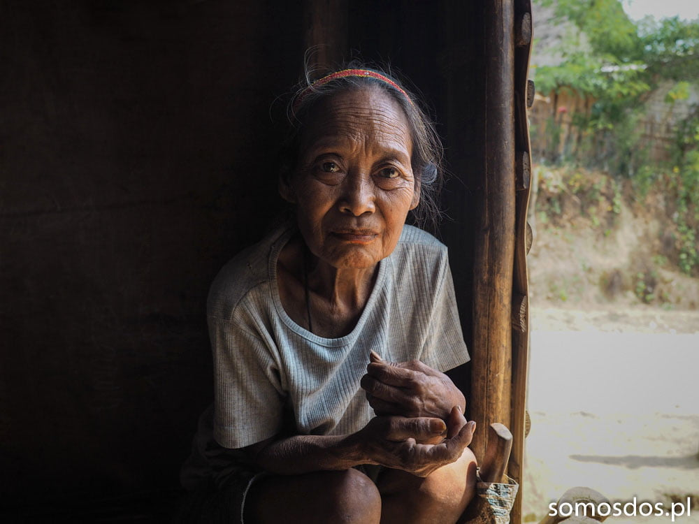 Mangyan woman sitting