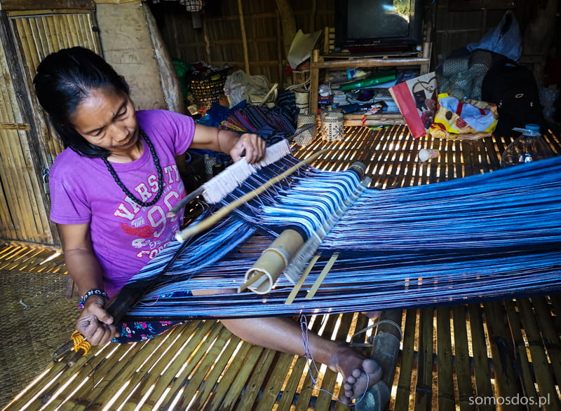 mangyan woman weaving