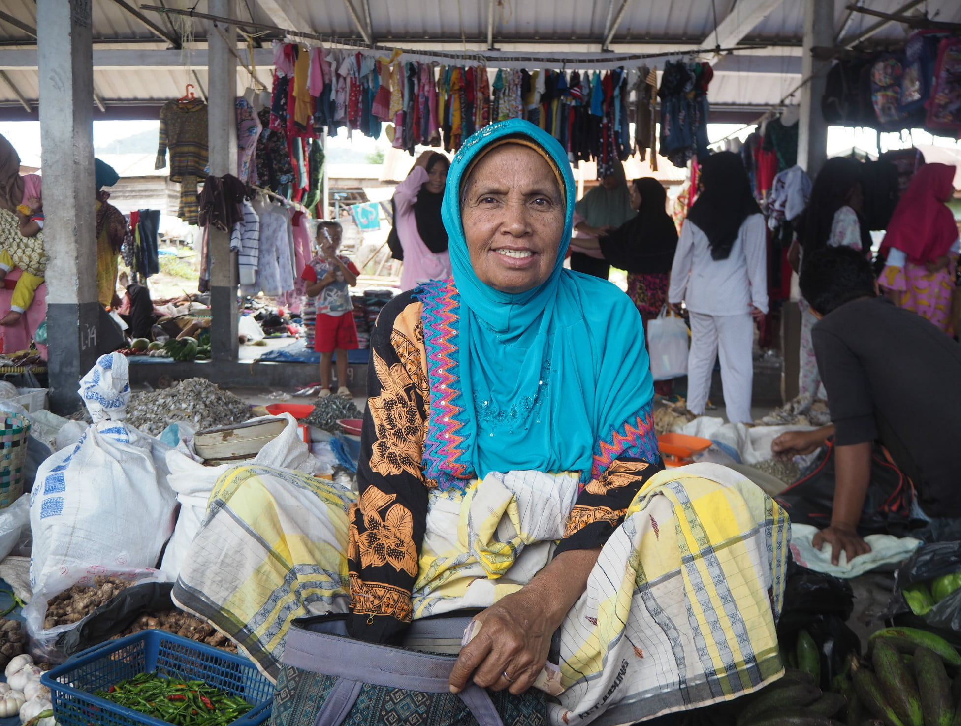 local market, Sumatra, Indonesia