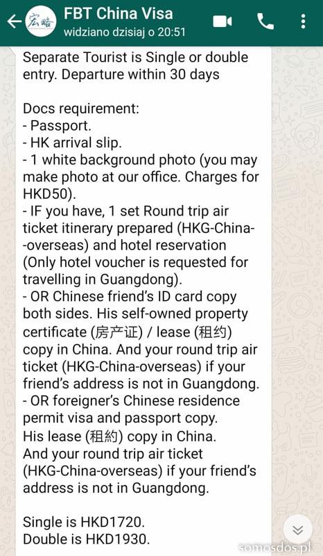 FTB Chiny Visa Agent