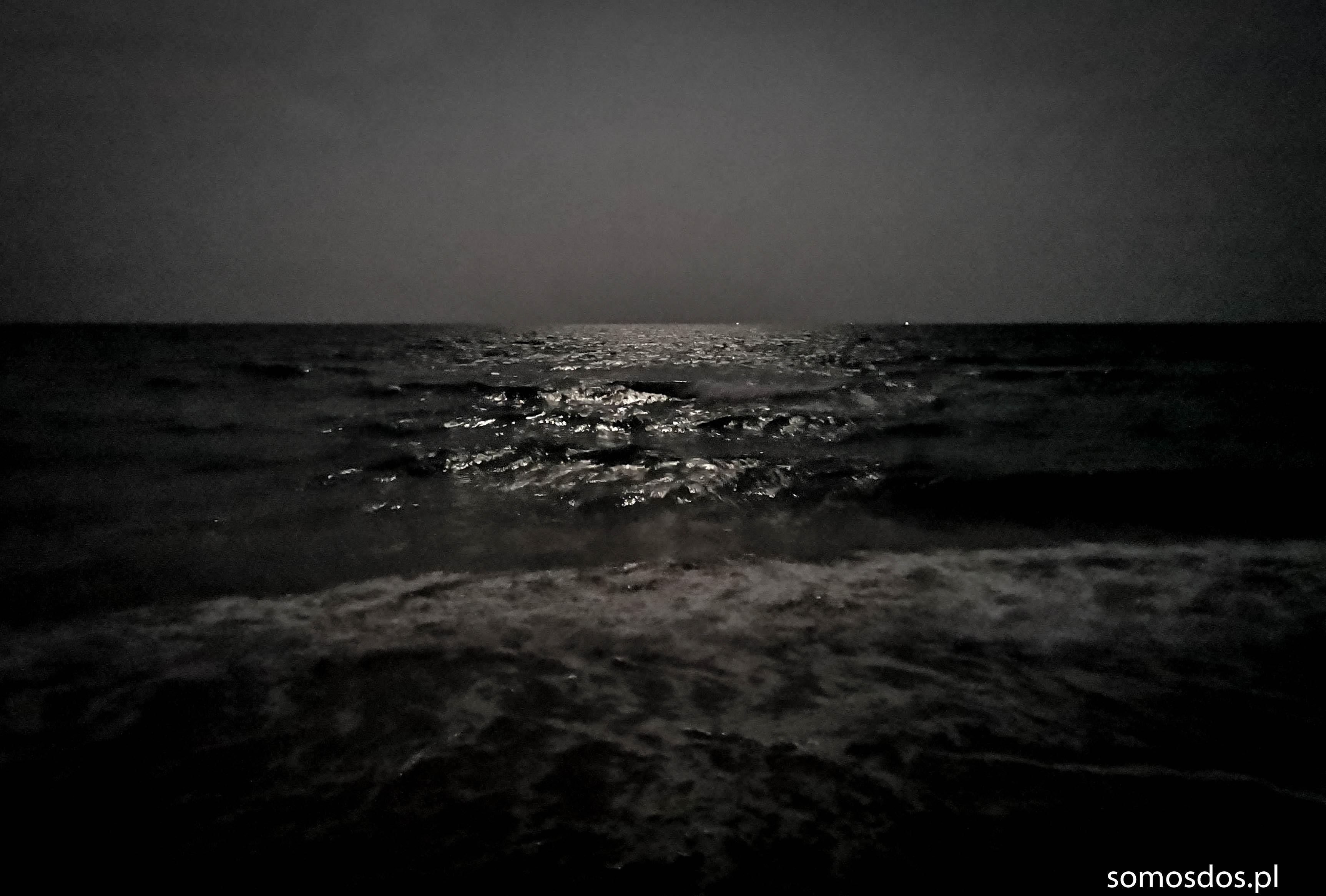 A Ama pogłaskała mnie jeszcze po głowie, uśmiechnęła się wszystkimi zmarszczkami surowej twarzy i zniknęła cicho, tak jak się pojawiła, zostawiając mnie znów sam na sam z szumem oceanu, śpiewem Gai i blaskiem gwiazd.