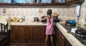 Gaja w kuchni.